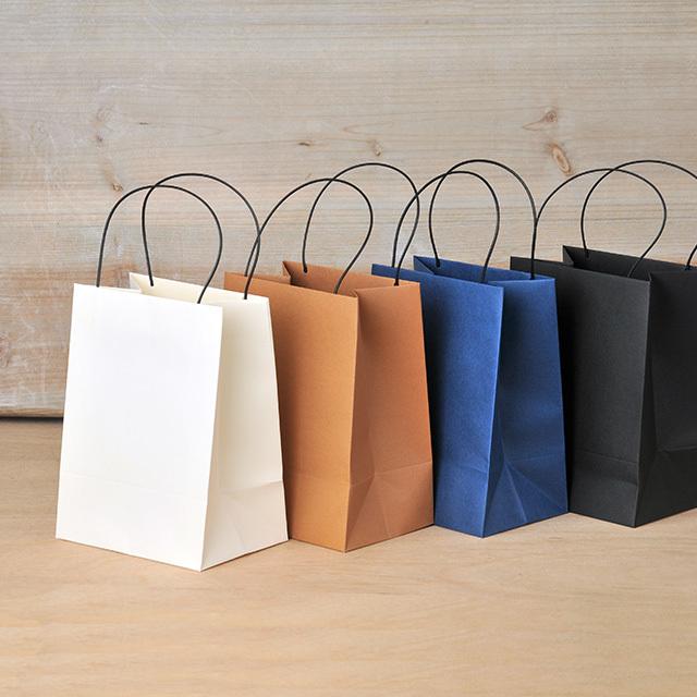 手提げ袋 M 紙袋 無地 ギフトバッグ 120×163×85mm 10枚