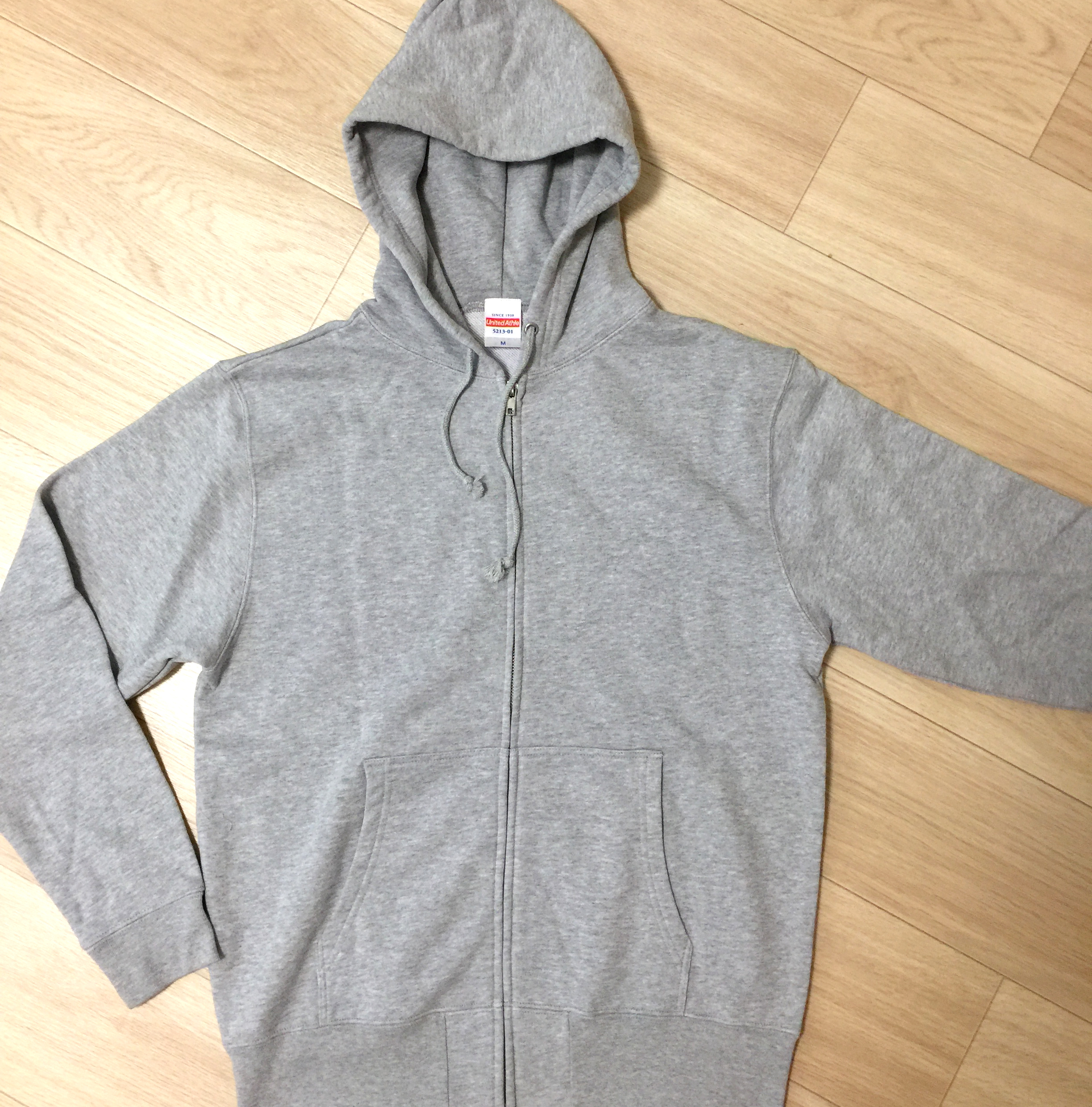 Charity Zip up Parker for Supporting SAVE TATTOOING (gray)