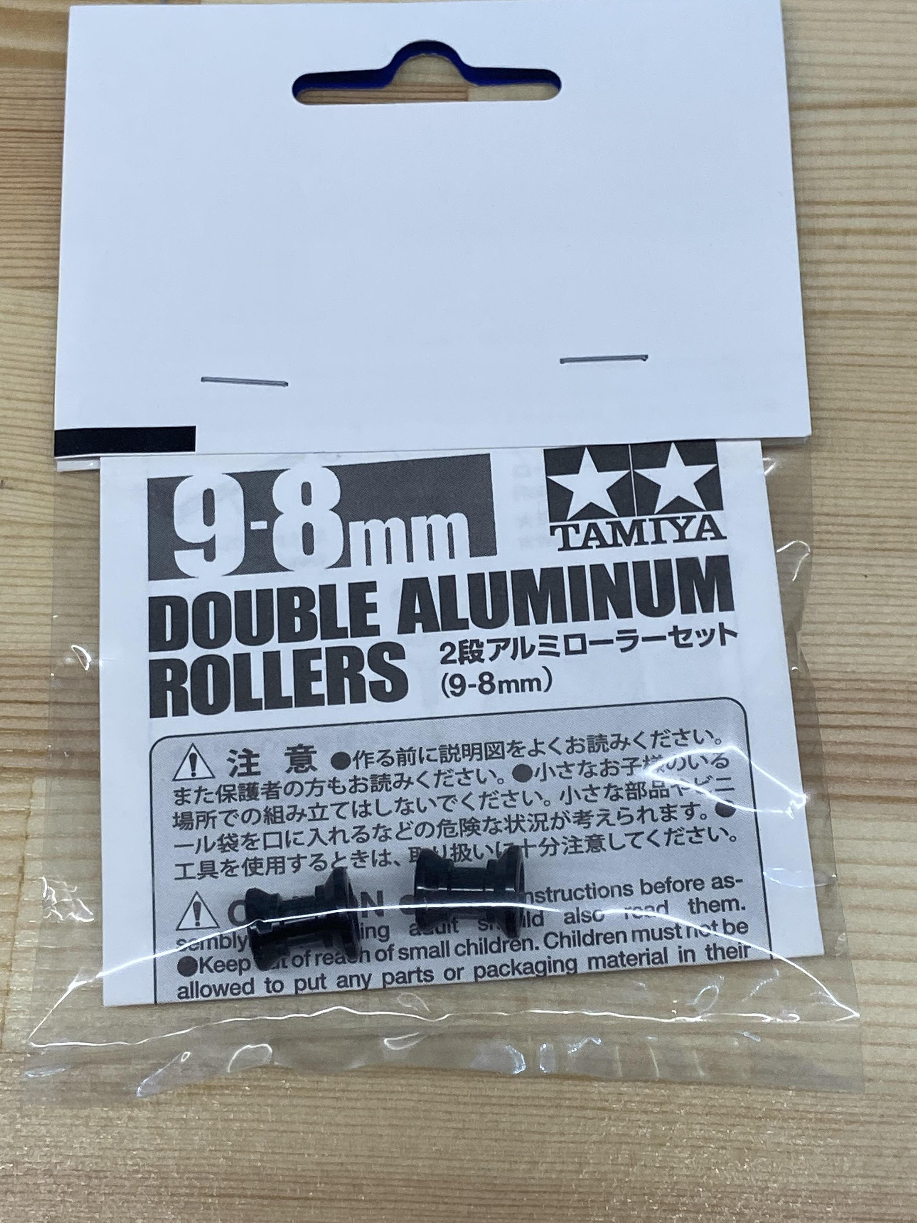 IKTローラー アルマイト加工済 2段アルミローラー9-8㎜ 黒