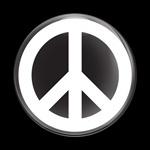ゴーバッジ(ドーム)(CD0479 -SIGN PEACE WHITE B) - 画像1