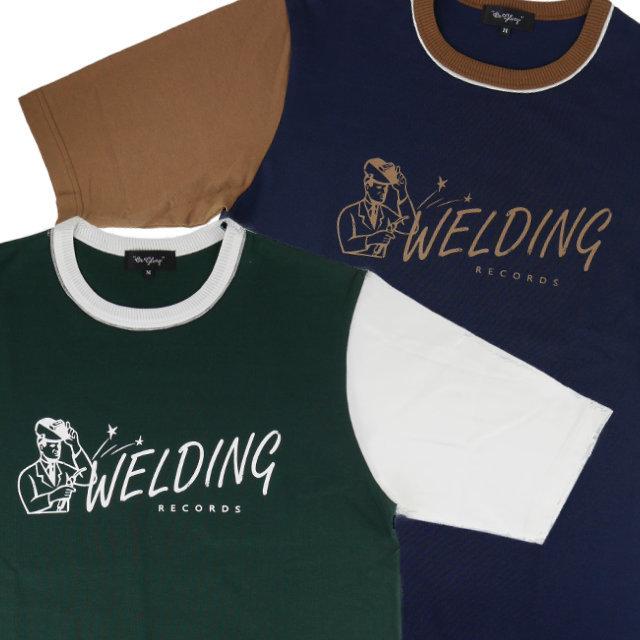 WELDING | バイカラー 5分袖 Tシャツ ウェルディング レコード (OR GLORY オアグローリー)