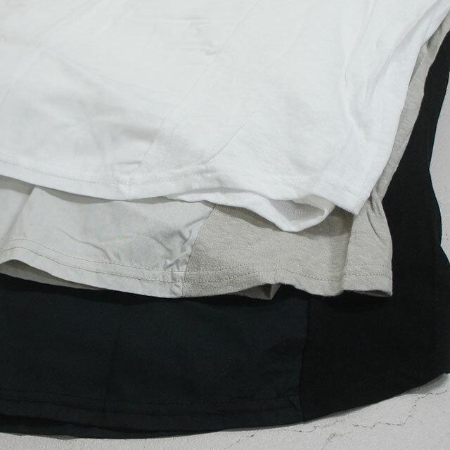 【再入荷なし】   NARU ナル 天竺×布帛Vネックヘムプルオーバー レディース ブラウス カットソー 長袖 無地 通販 (品番634010)