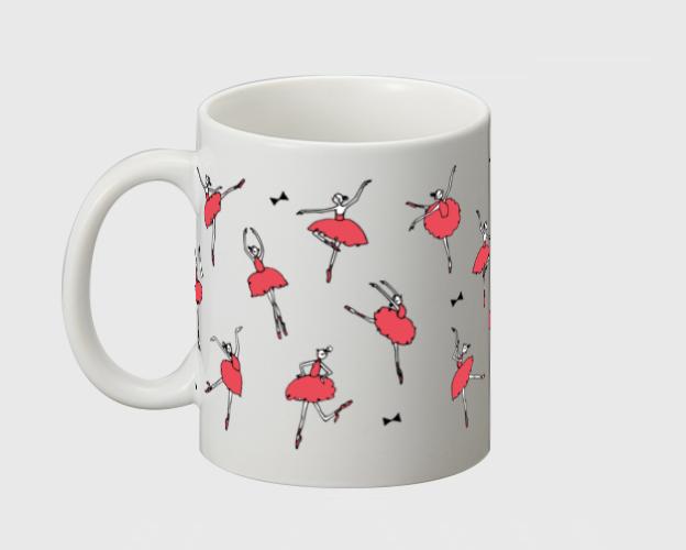 バレリーナ(赤) マグカップ - 画像4