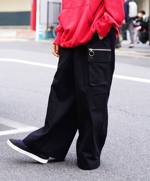 WIDE CARGO PANTS / BLACK - 画像2