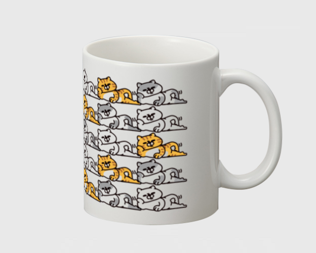 「ふてくされた猫」マグカップ