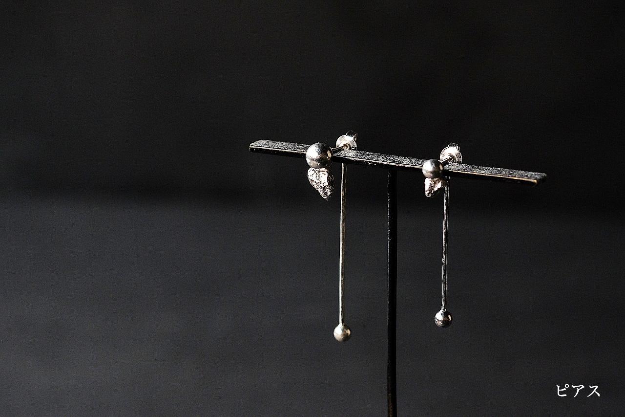 玉と振り子のピアス(silver)