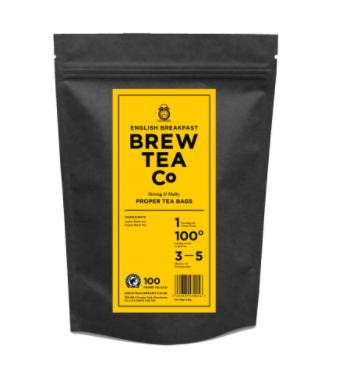 BREW TEA Co. ブリューティーカンパニー tea bag ティーバッグ 100個入り English Breakfast イングリッシュ ブレックファースト