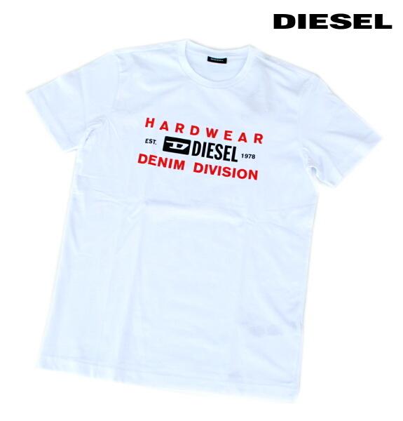 DIESEL ディーゼル Tシャツ 半袖 プリント Tシャツ メンズ T-DIEGOS-K32 WHITE 2020 秋モデル