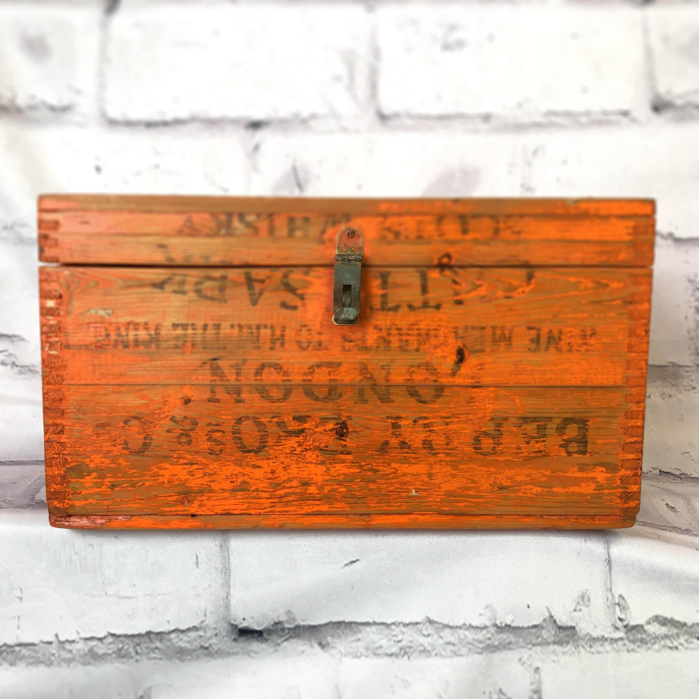 品番3687 木箱 ウッドボックス 蓋つき インテリア ディスプレイ ヴィンテージ