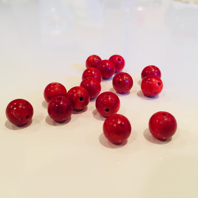 サンゴ(赤)8mm玉