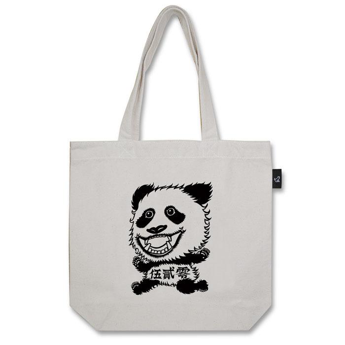 恋するパンダ520 トートバッグ (M:内ポケット付き)品番:chika-m-01