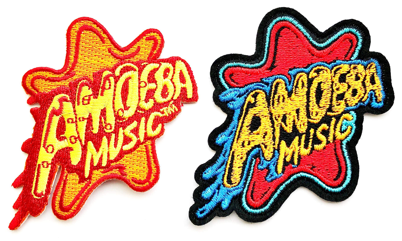 品番0172 Amoeba Music アメーバミュージック ロゴ ワッペン 2点セット アメリカン雑貨 新品雑貨