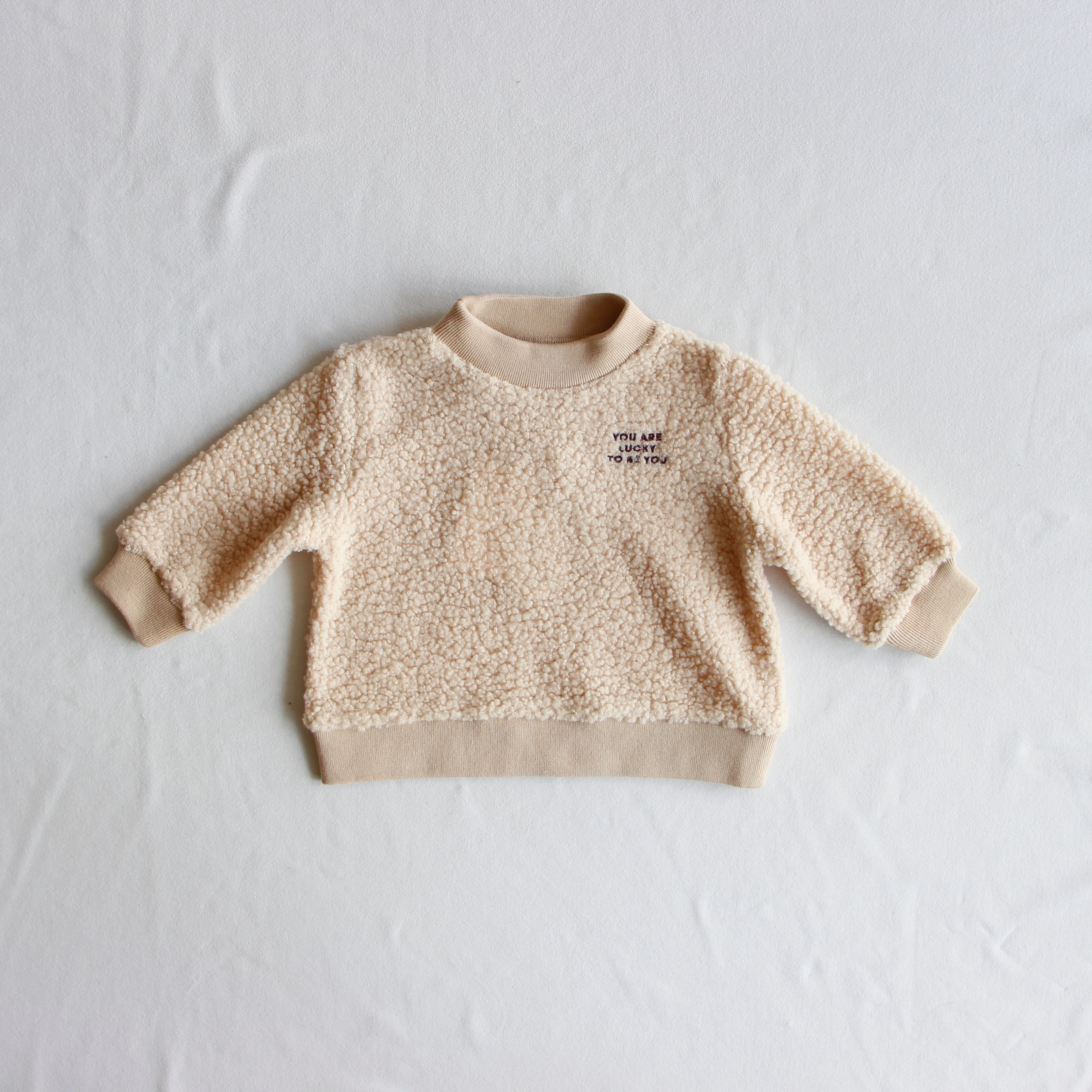 《TINYCOTTONS 2019AW》YOU ARE LUCKY SWEATSHIRT / sand × aubergine