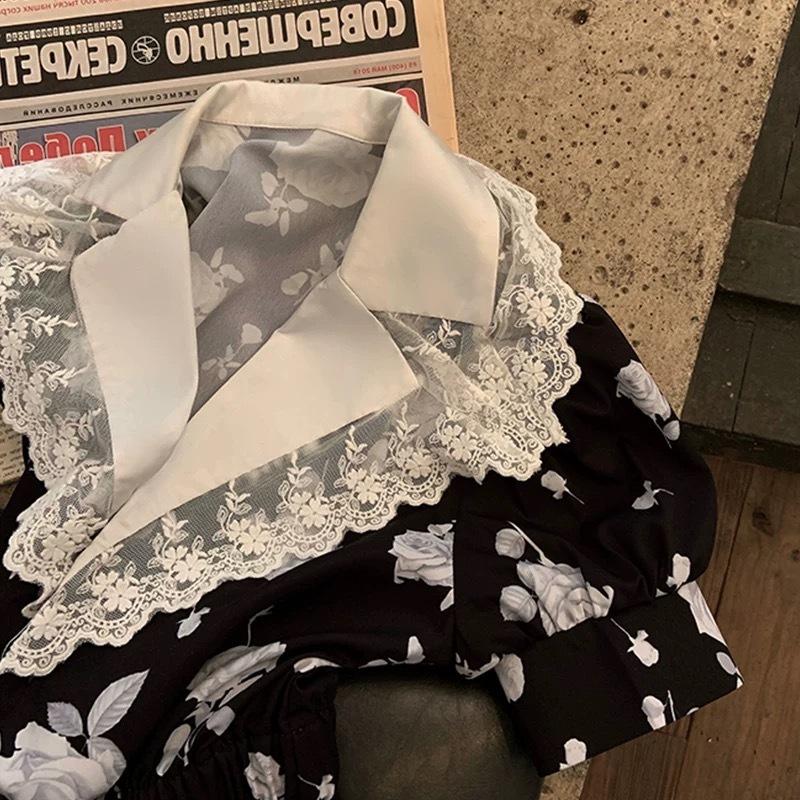 monotone rose dress