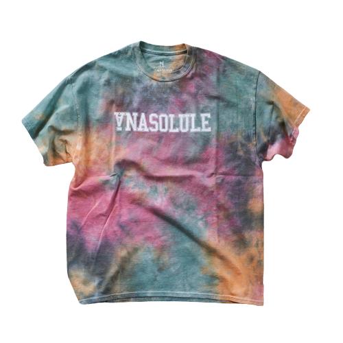 ANASOLULE/College Logo Tie Dye Tee【 Col. Dinosaur 】