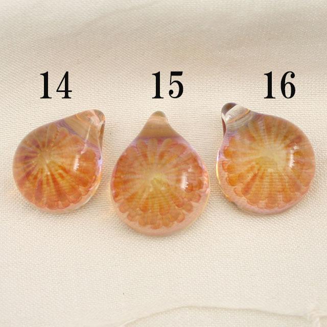 【1点もの/MAHAO/高品質】パイレックスガラスペンダント Lavender Fana(1つ選んでください)