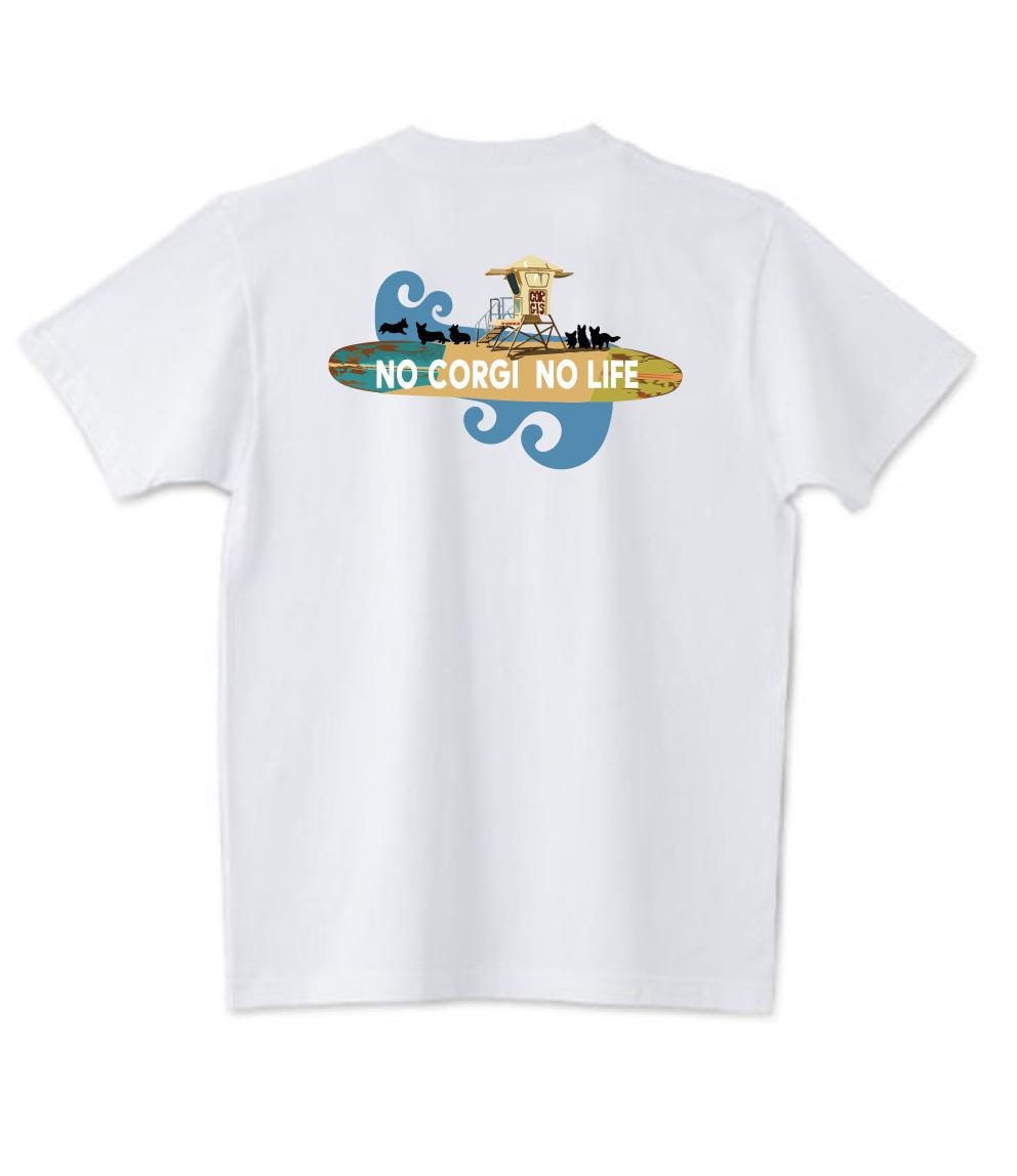 No.2019-3005-71 オーセンティック スーパーヘヴィーウェイト 7.1オンス へヴィーウェイト Tシャツ NO CORGI NO LIFE
