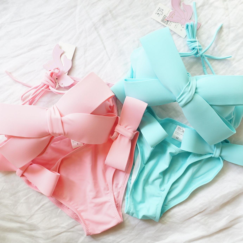 [cB4][カラー2色]リボンビキニ ビキニ パンツ スカート3セット