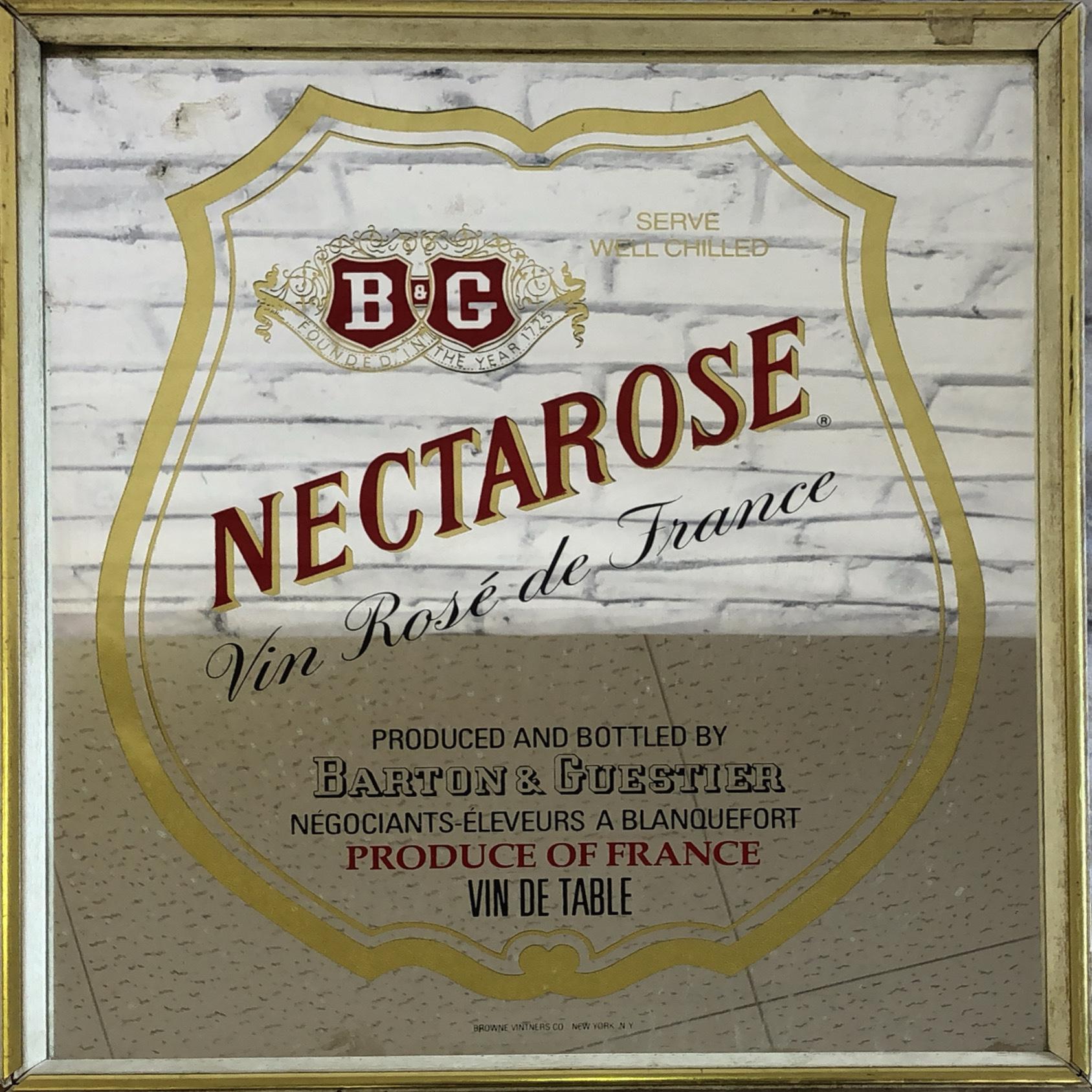 品番0716 パブミラー 『NECTAROSE(ネクタロス)』 鏡 ヴィンテージ壁掛 アート ディスプレイ アメリカン雑貨