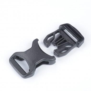 NIFCO プラスチック バックル SRGM25 黒 1個