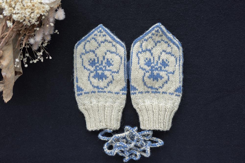 sunao knitting ミトン こども用 size3 【  pansy 】