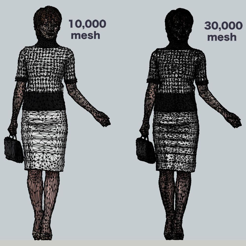 SketchUp素材 3D人物モデル ( Posed ) 025_Haru - 画像3