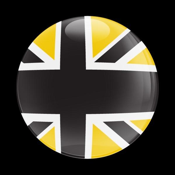 ゴーバッジ(ドーム)(CD0161 - FLAG BLACKJACK YELLOW) - 画像1
