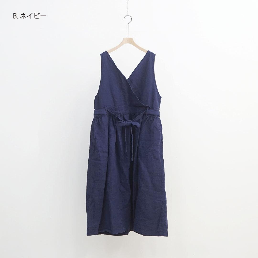 【2020/10月中旬再入荷予定】 ICHIAntiquites イチアンティークス LINEN KOTOHIRADAKI JUMPER DRESS リネン琴平炊きワンピース (品番600135)