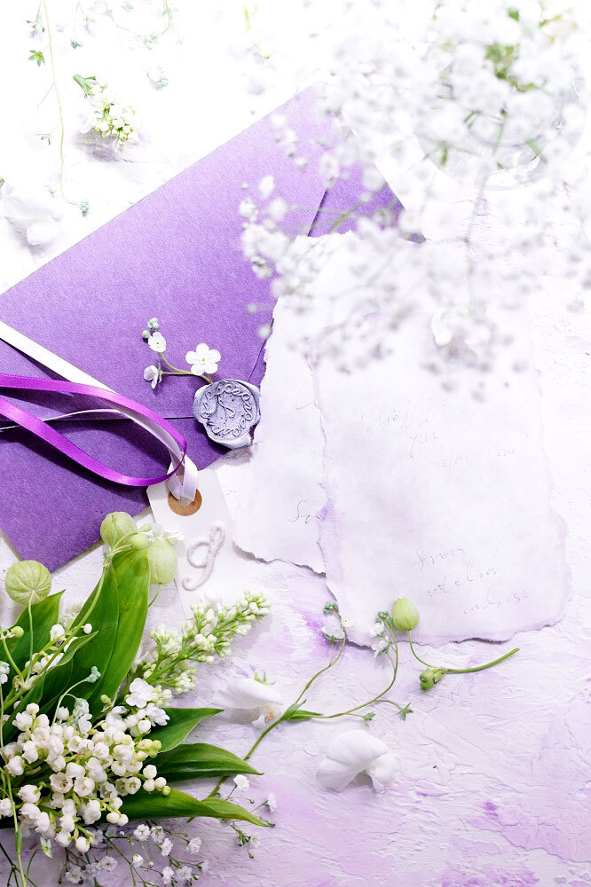 45サイズ:ライラックパープル「花香」を感じる5種の淡い色のスタイリングボード