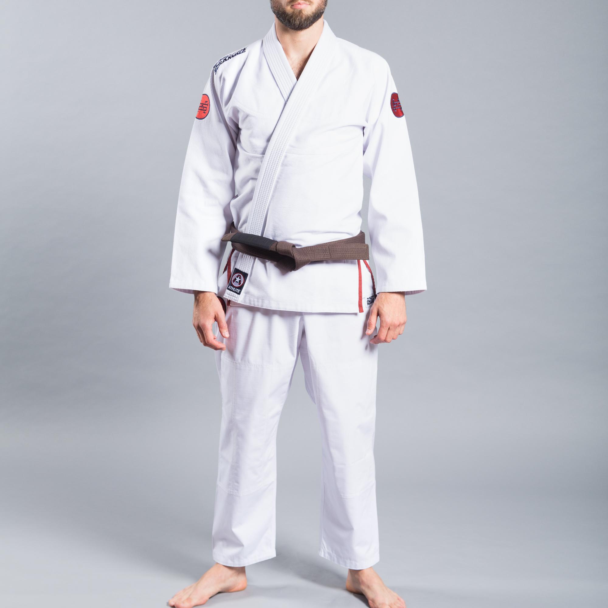 ウルトラライトモデル SCRAMBLE ATHLITE KIMONO ホワイト|ブラジリアン柔術衣(柔術着)