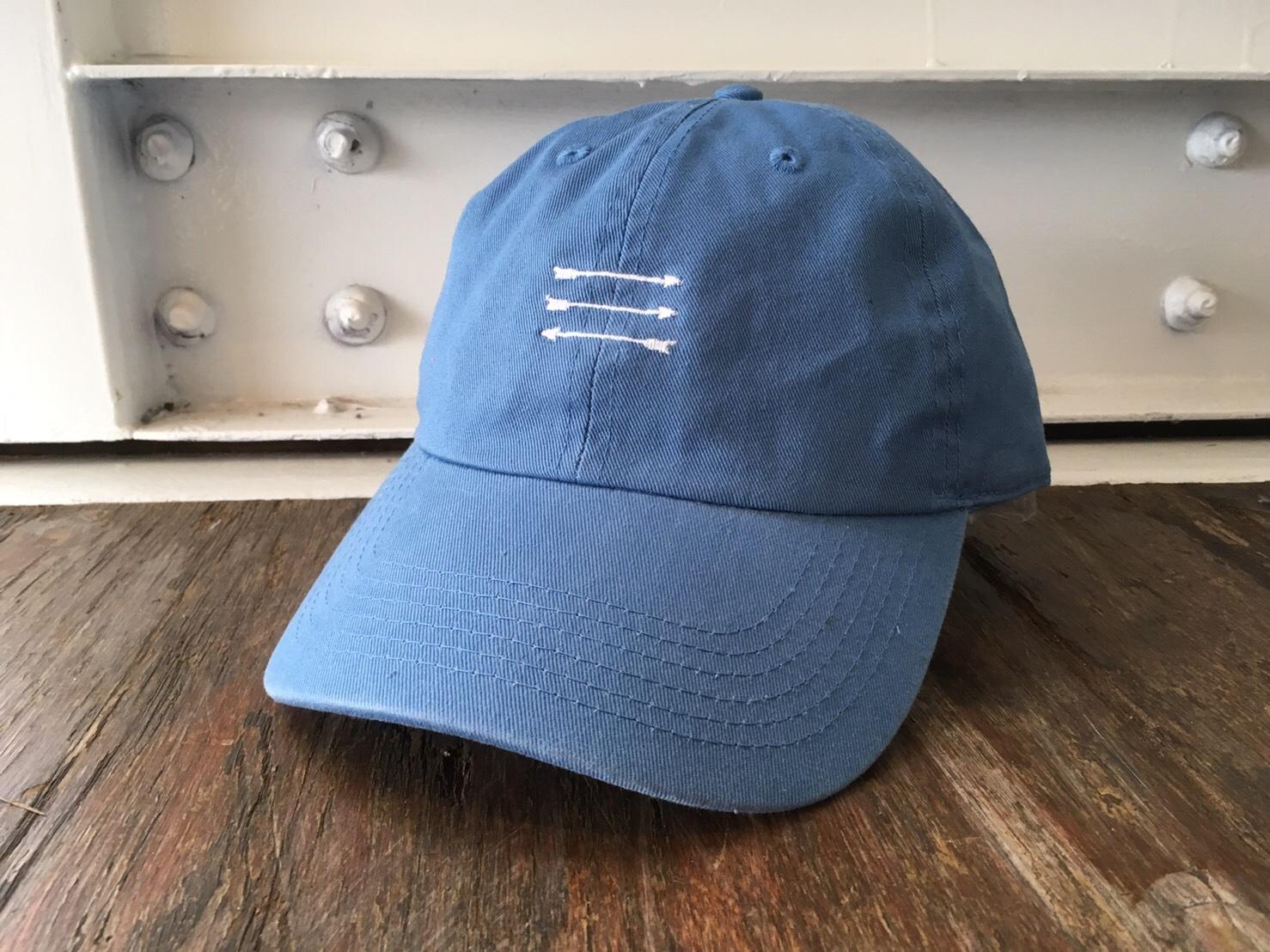 THREEARROW刺繍CAP(sky blue)