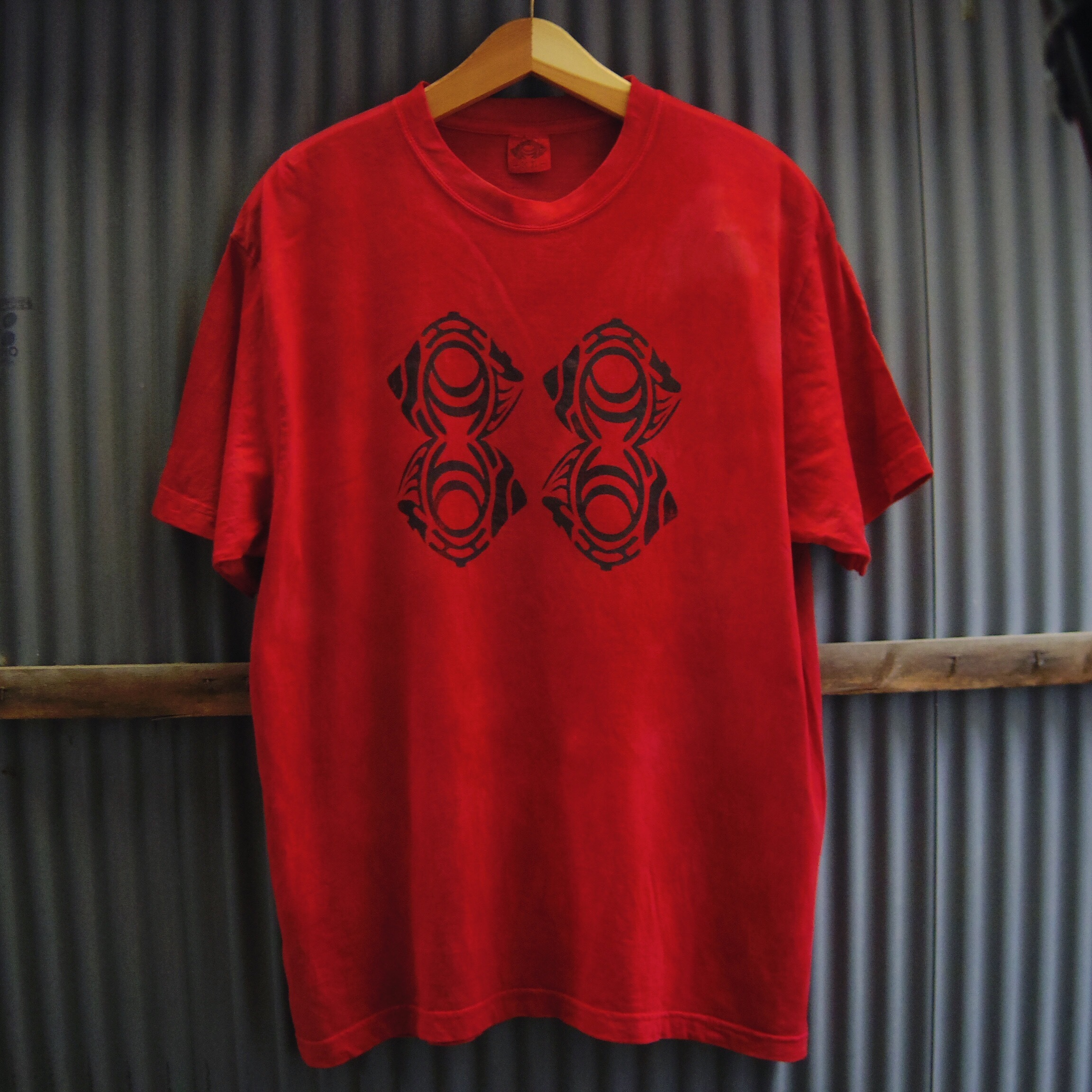 "TKHOME FACTORY ""ORIGINAL LOGO"" 後染め Organic Cotton T-shirt XL"