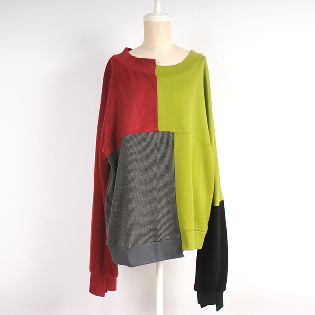 hs18AW-IR08 BI-COLOR TOPS (green)
