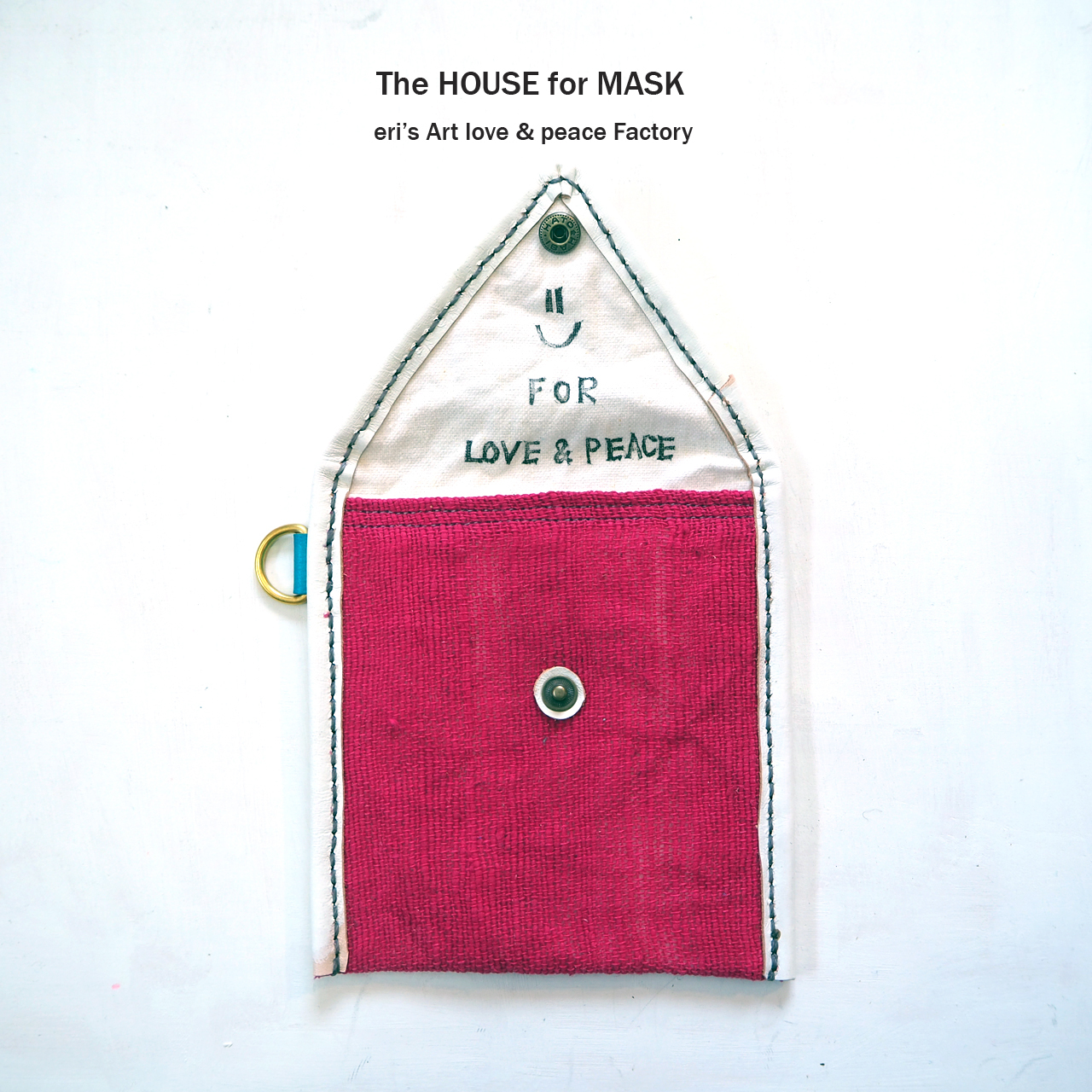 The HOUSE for MASK -マスクのおうちポーチ pink- LE-1330