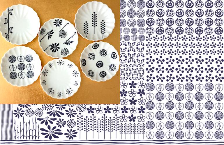 禅 -zen-転写紙 藍色 A3サイズ(ポーセリンアート用転写紙)