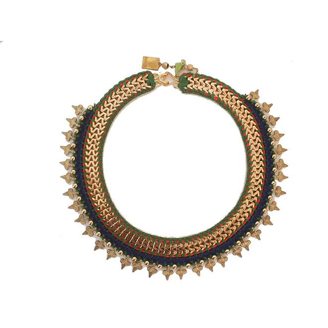 Maya-Bazaar ネックレス ヴィンテージロマン ブルー×グリーン