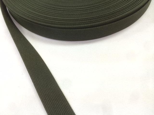 サコッシュなどに、ナイロン ベルト 高密度 15mm幅 1mm厚 カラー 5m単位