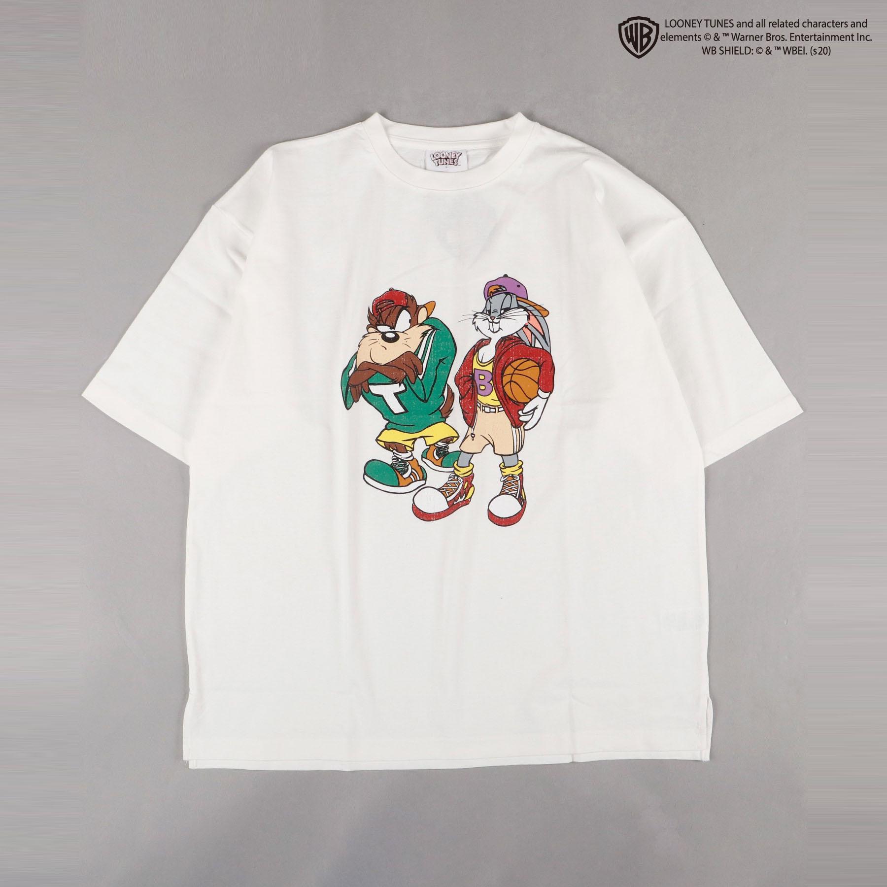 【ルーニーテューンズ】オーバーシルエット フロントプリント 半袖Tシャツ NO0530126