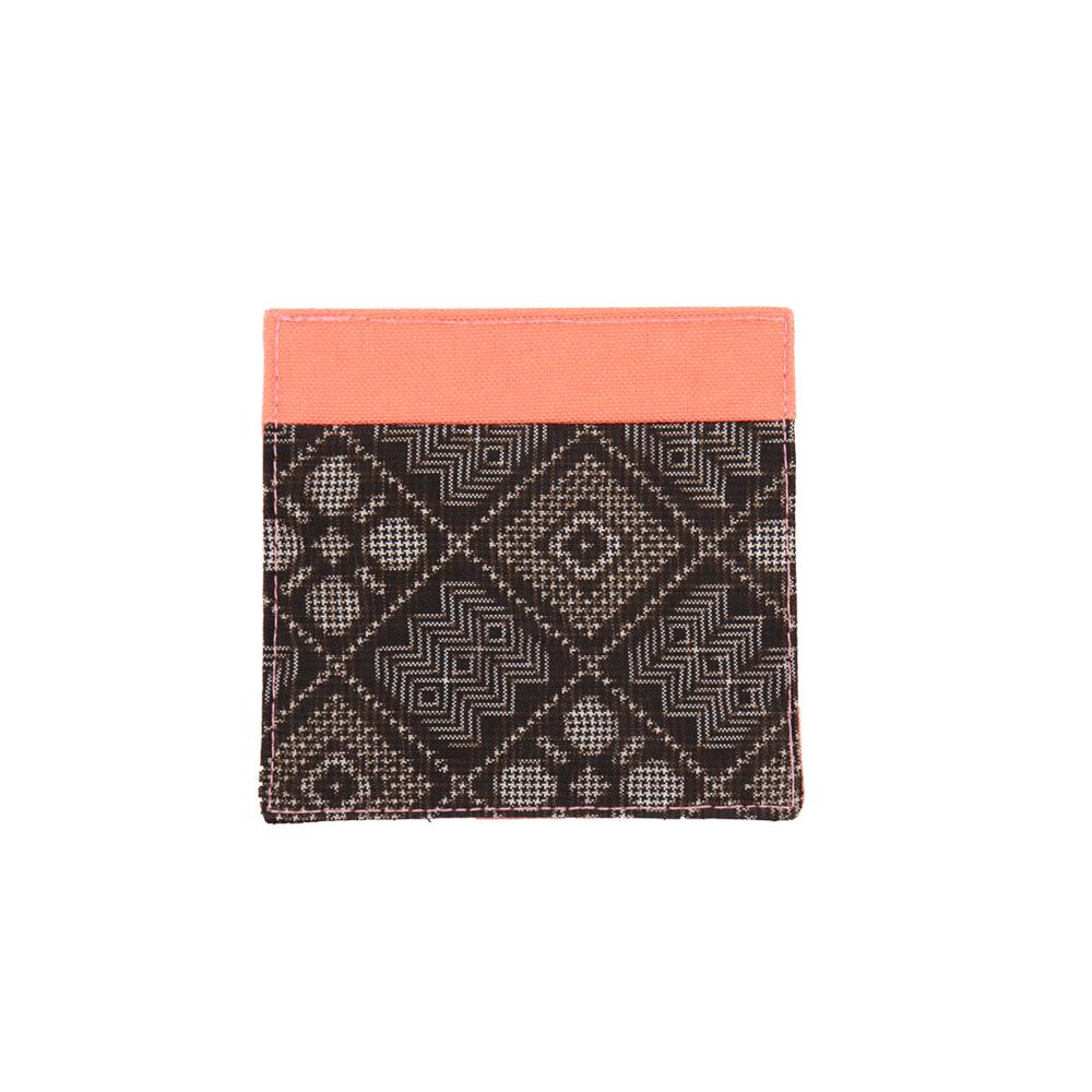 大島紬のコースター | ピンク