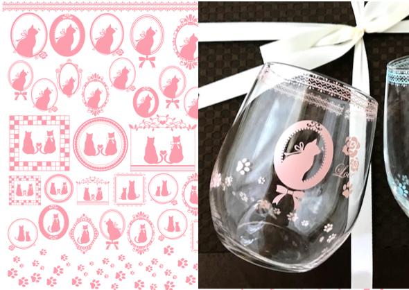 【ガラス用】CAT転写紙 ピンク