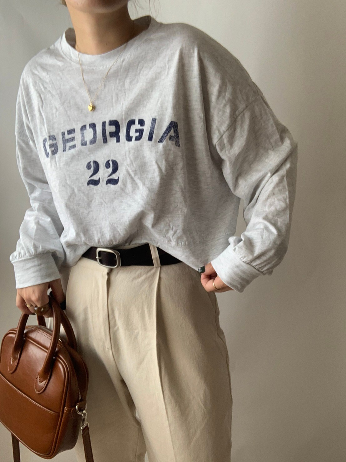 【asyu】Georgia long t shirt