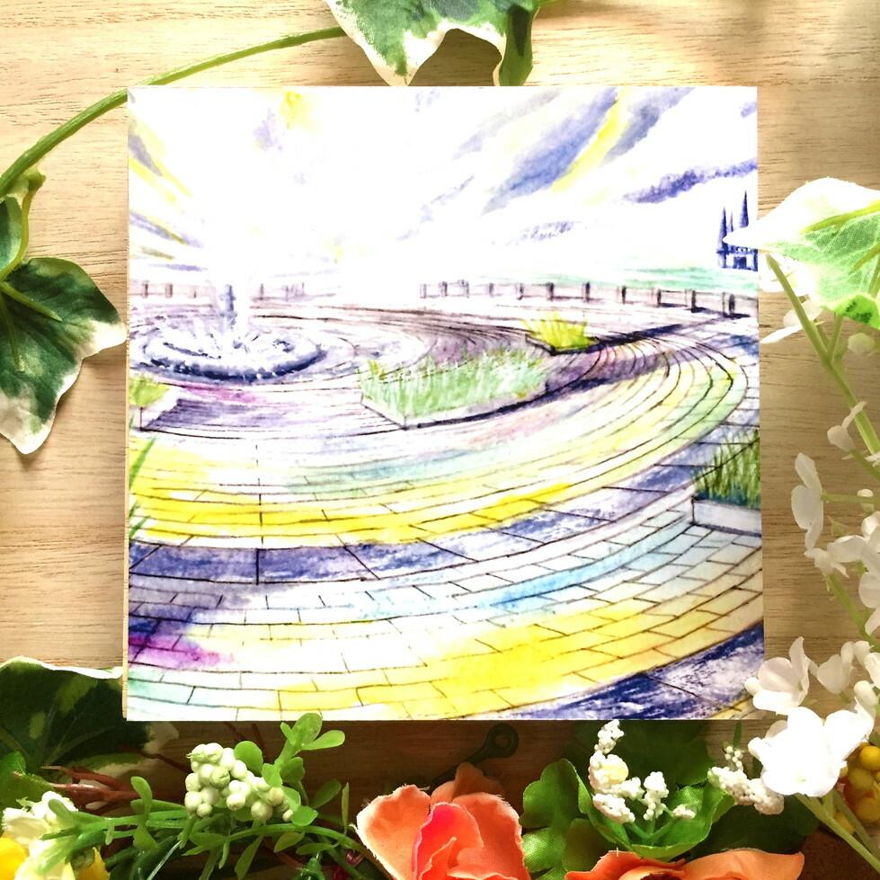 絵画 インテリア アートパネル 雑貨 壁掛け 置物 おしゃれ 風景画 抽象画 ロココロ 画家 : MP 作品 : 夢の向こうへ