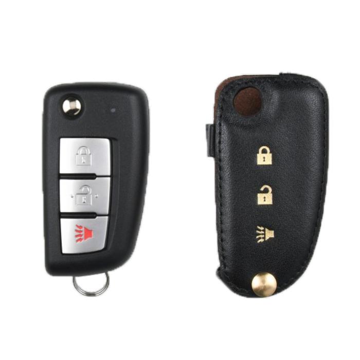Nissan 専用 Type-C Car Key Case Shrink Leather Case