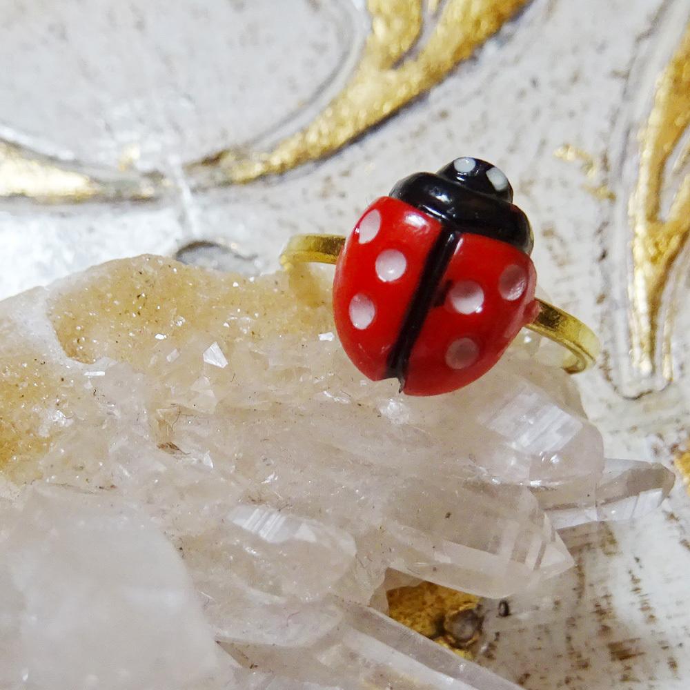 チェコスロバキア てんとう虫のピンキーリング