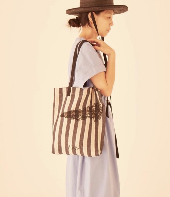 eLfinFolk エルフィンフォルク ALfaFolk embroidery linen Bag