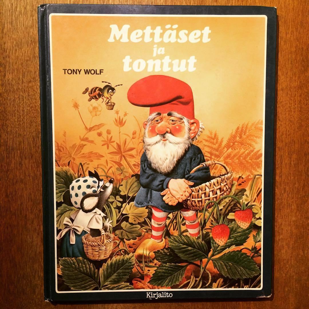 トニー・ウルフのノーム絵本「Mettaset ja tontut(storie del bosco e di gnomi)/Tony Wolf」 - 画像1