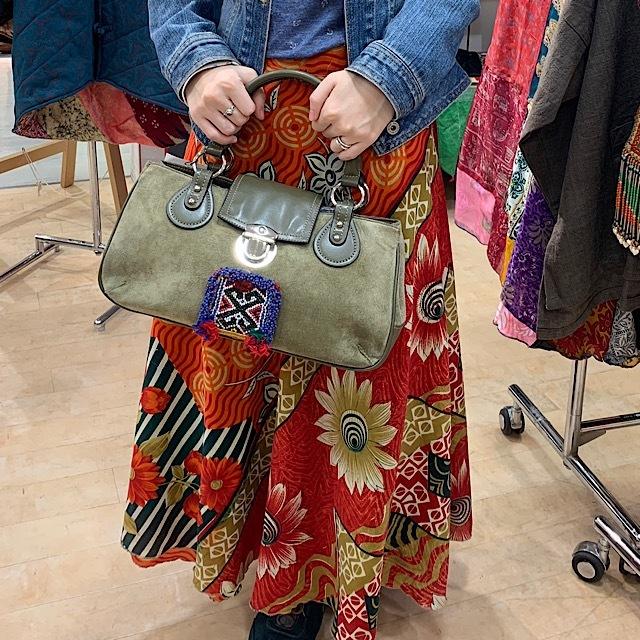 drmー101 アフガンビーズ刺繍ハンドバッグ