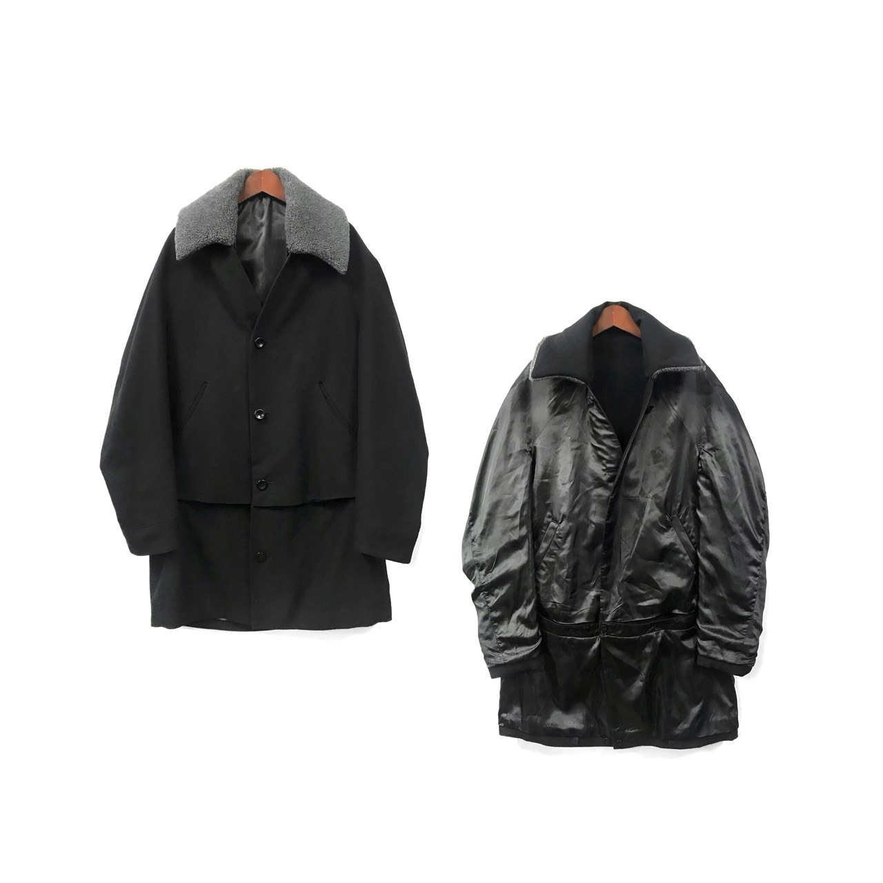 Brusco,k - Reversible Coat (size - F) ¥28000+tax → ¥22400+tax