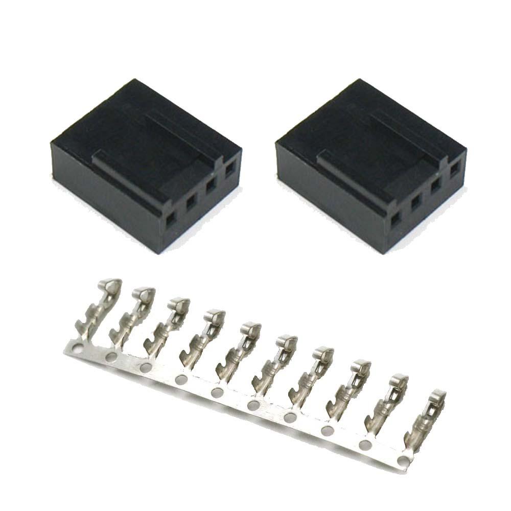 ATX規格 FANコネクタ 4Pin メス ハウジングx2 圧着ピン10pin セット (3Pinコネクタ対応版)