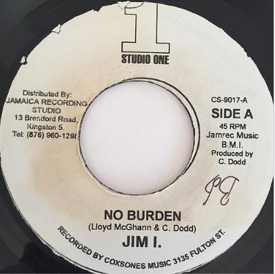 Jim I.(ジム・I) - No Burden【7'】